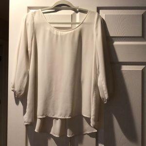 Tops - White blouse Size Large Chiffon